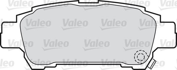 Kit de plaquettes de frein, frein à disque - VALEO - 598542