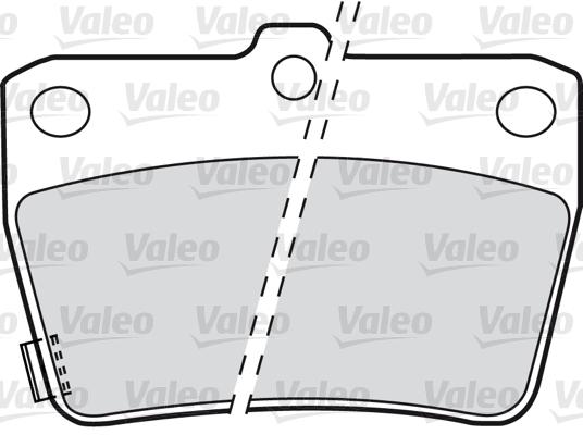 Kit de plaquettes de frein, frein à disque - VALEO - 598673