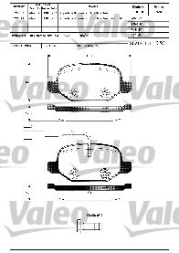 Kit de plaquettes de frein, frein à disque - VALEO - 598407