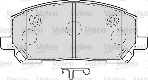 Kit de plaquettes de frein, frein à disque - VALEO - 598944