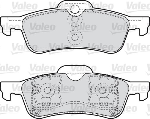 Kit de plaquettes de frein, frein à disque - VALEO - 598643