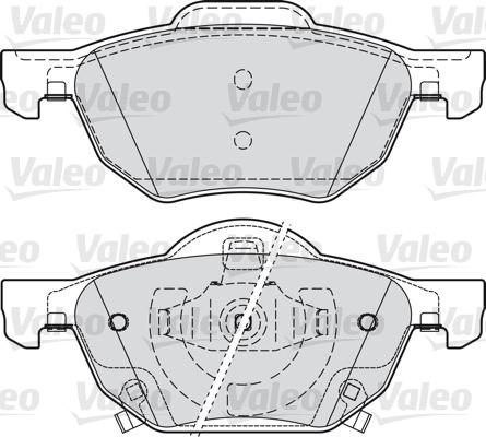 Kit de plaquettes de frein, frein à disque - VALEO - 598824