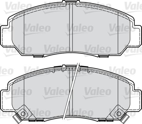 Kit de plaquettes de frein, frein à disque - VALEO - 598887