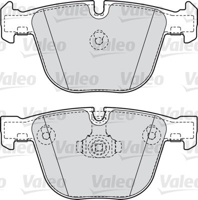 Kit de plaquettes de frein, frein à disque - VALEO - 598820