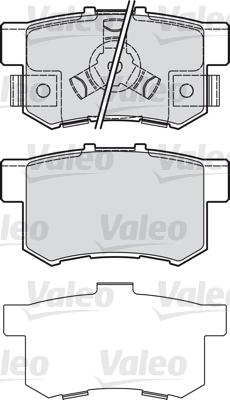 Kit de plaquettes de frein, frein à disque - VALEO - 601043