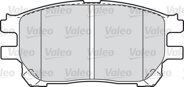 Kit de plaquettes de frein, frein à disque - VALEO - 598710
