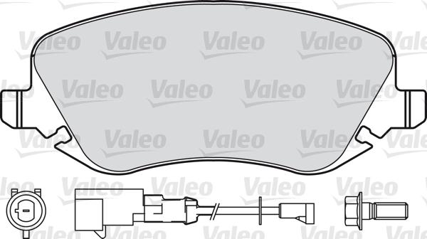 Kit de plaquettes de frein, frein à disque - VALEO - 601001