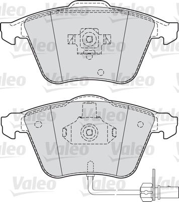 Kit de plaquettes de frein, frein à disque - VALEO - 598750