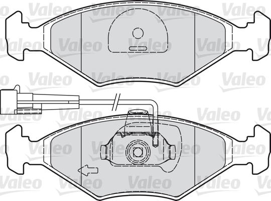 Kit de plaquettes de frein, frein à disque - VALEO - 601019