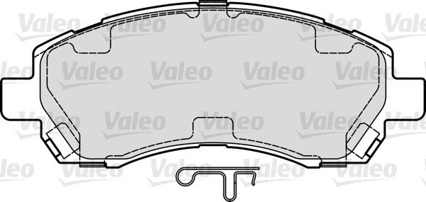 Kit de plaquettes de frein, frein à disque - VALEO - 598915