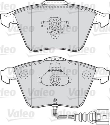 Kit de plaquettes de frein, frein à disque - VALEO - 598863