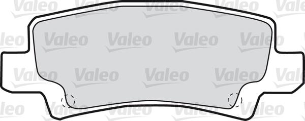 Kit de plaquettes de frein, frein à disque - VALEO - 598680