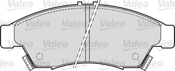 Kit de plaquettes de frein, frein à disque - VALEO - 598848