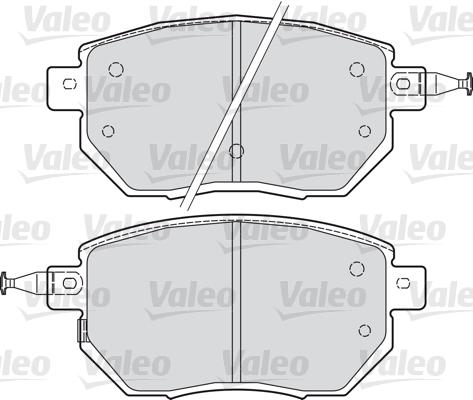 Kit de plaquettes de frein, frein à disque - VALEO - 598918