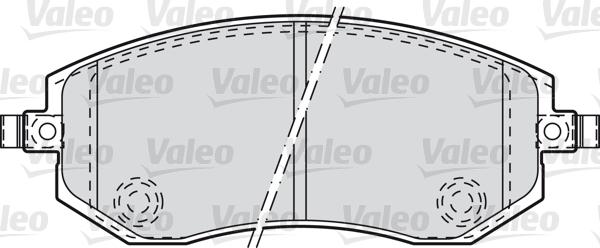 Kit de plaquettes de frein, frein à disque - VALEO - 598853