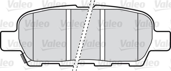 Kit de plaquettes de frein, frein à disque - VALEO - 598672