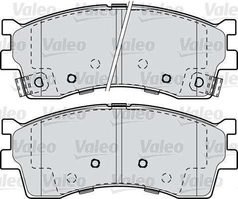 Kit de plaquettes de frein, frein à disque - VALEO - 598910