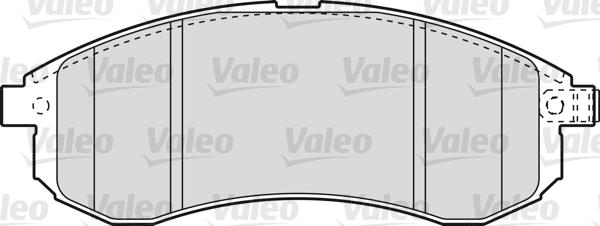Kit de plaquettes de frein, frein à disque - VALEO - 598855