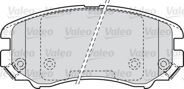 Kit de plaquettes de frein, frein à disque - VALEO - 598744