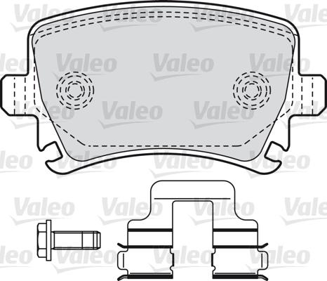 Kit de plaquettes de frein, frein à disque - VALEO - 598752