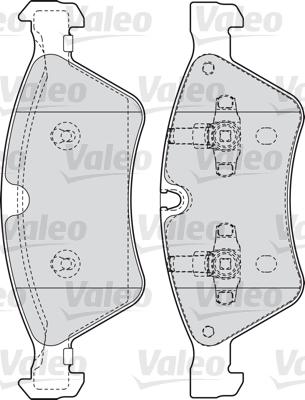 Kit de plaquettes de frein, frein à disque - VALEO - 598728
