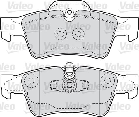 Kit de plaquettes de frein, frein à disque - VALEO - 598802