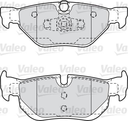 Kit de plaquettes de frein, frein à disque - VALEO - 598703
