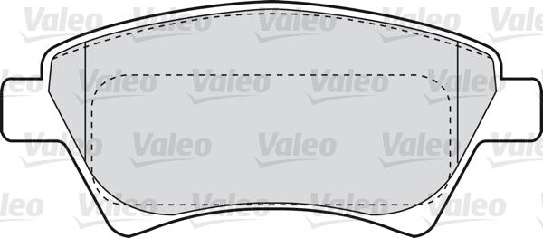 Kit de plaquettes de frein, frein à disque - VALEO - 598558