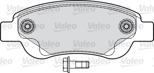 Kit de plaquettes de frein, frein à disque - VALEO - 598718