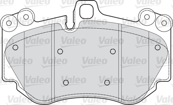 Kit de plaquettes de frein, frein à disque - VALEO - 598709