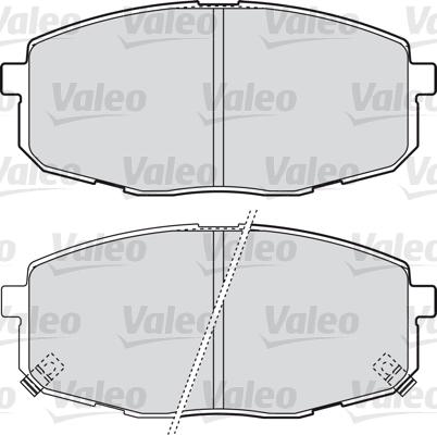 Kit de plaquettes de frein, frein à disque - VALEO - 598842