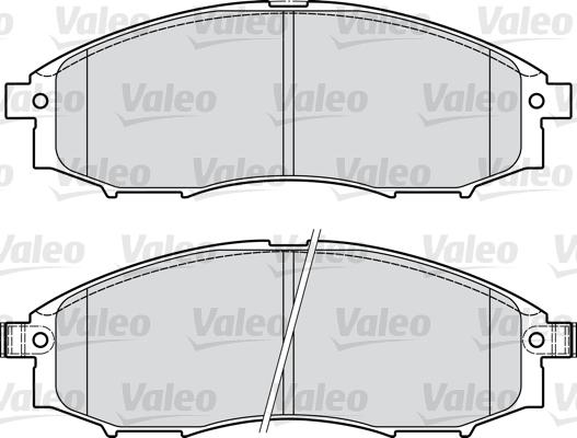 Kit de plaquettes de frein, frein à disque - VALEO - 598889