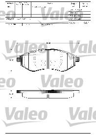 Kit de plaquettes de frein, frein à disque - VALEO - 598644