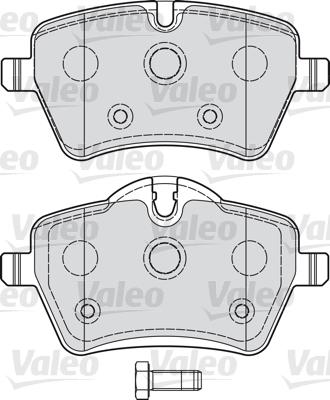 Kit de plaquettes de frein, frein à disque - VALEO - 598925