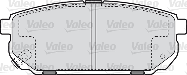 Kit de plaquettes de frein, frein à disque - VALEO - 598823
