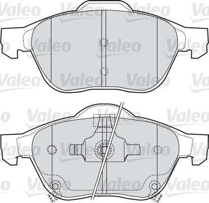 Kit de plaquettes de frein, frein à disque - VALEO - 598653