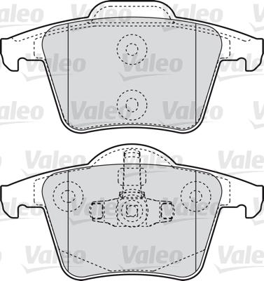 Kit de plaquettes de frein, frein à disque - VALEO - 598829