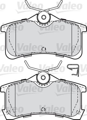 Kit de plaquettes de frein, frein à disque - VALEO - 598810