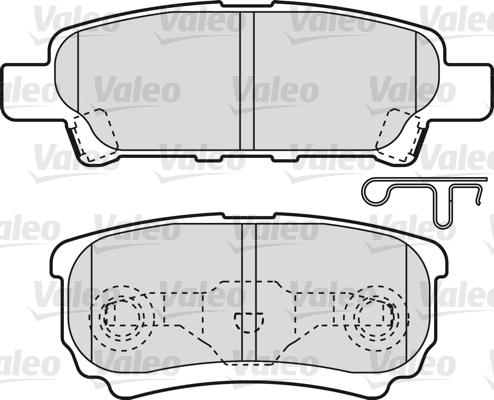 Kit de plaquettes de frein, frein à disque - VALEO - 598852