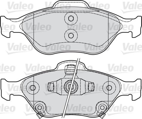 Kit de plaquettes de frein, frein à disque - VALEO - 601026