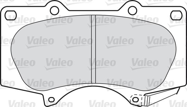 Kit de plaquettes de frein, frein à disque - VALEO - 598857