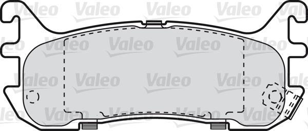 Kit de plaquettes de frein, frein à disque - VALEO - 598835