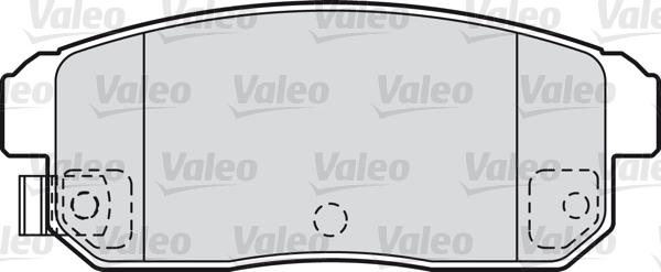 Kit de plaquettes de frein, frein à disque - VALEO - 598831