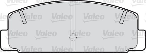 Kit de plaquettes de frein, frein à disque - VALEO - 598780