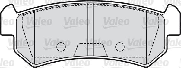 Kit de plaquettes de frein, frein à disque - VALEO - 598874