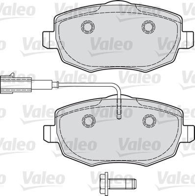 Kit de plaquettes de frein, frein à disque - VALEO - 601031