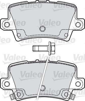 Kit de plaquettes de frein, frein à disque - VALEO - 598849