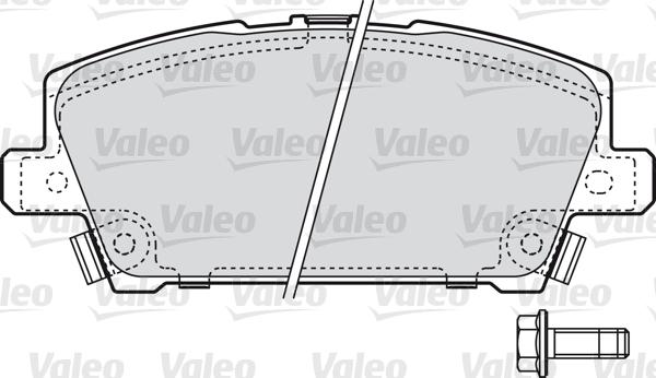 Kit de plaquettes de frein, frein à disque - VALEO - 598803