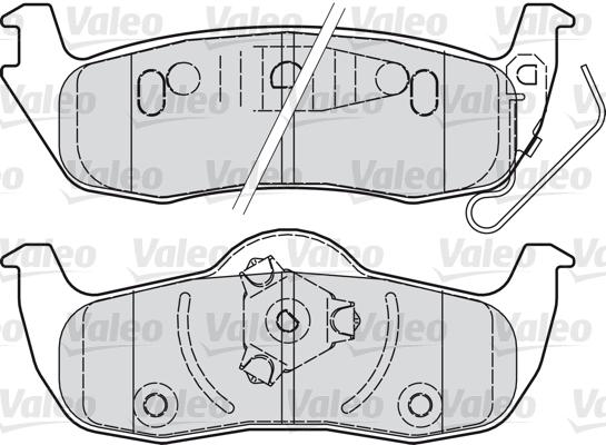 Kit de plaquettes de frein, frein à disque - VALEO - 598920