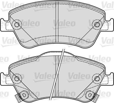 Kit de plaquettes de frein, frein à disque - VALEO - 601040